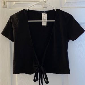 brandy melville wrap tie shirt